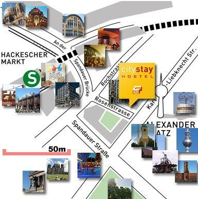 Auberge de jeunesse CityStay à Berlin - Plan