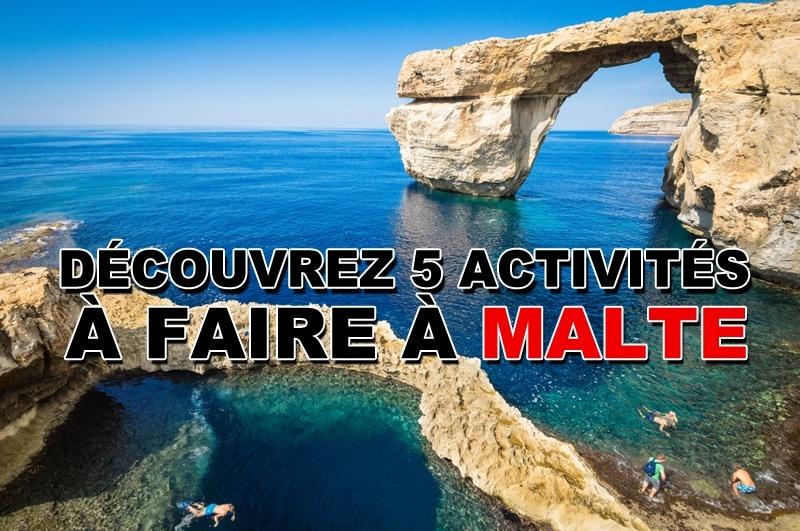 Découvrez les 5 activités à faire à Malte
