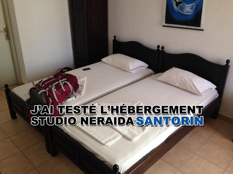 J'ai testé l'hébergement Studio Neraida à Santorin
