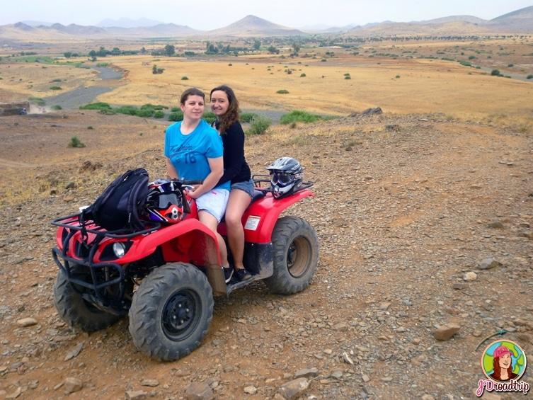 Paysage - randonnée en quad dans la palmeraie de Marrakech
