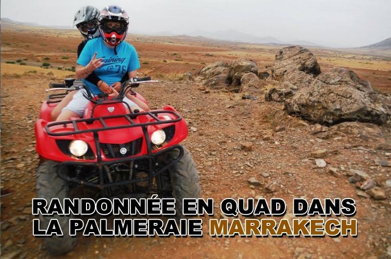Faire une randonnée en quad dans la palmeraie de Marrakech