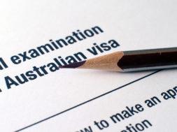 Australian visa form