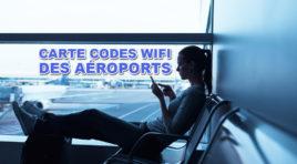 Carte avec les codes wifi des aéroports dans le monde