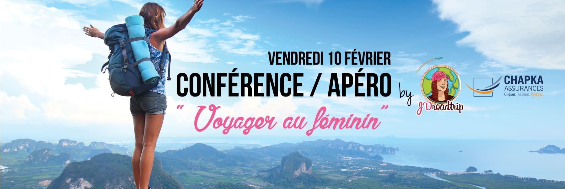 Conférence Voyager au féminin à Paris