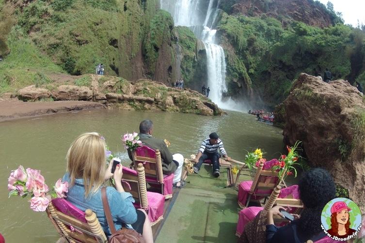 Visiter les cascades Ouzoud - bateau