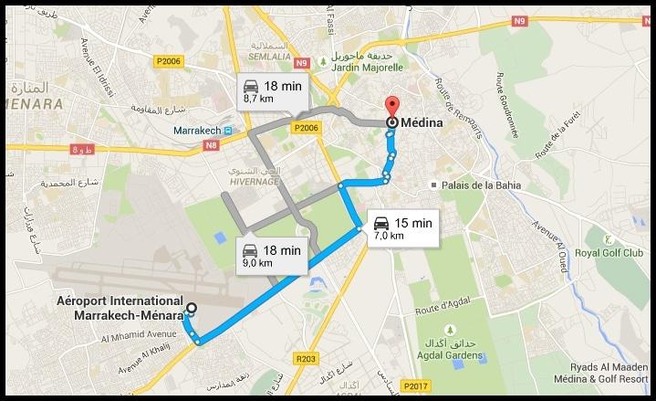 Aéroport Marrakech / Médina - Conseils pour visiter Marrakech et ses alentours