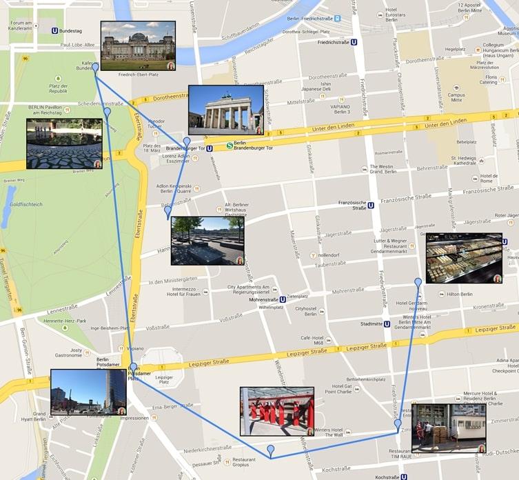 visiter Berlin en 3 jours - Plan de Berlin