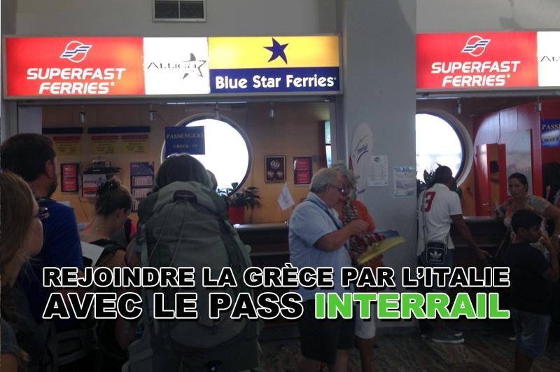 Comment rejoindre la Grèce par Italie avec le pass InterRail ?