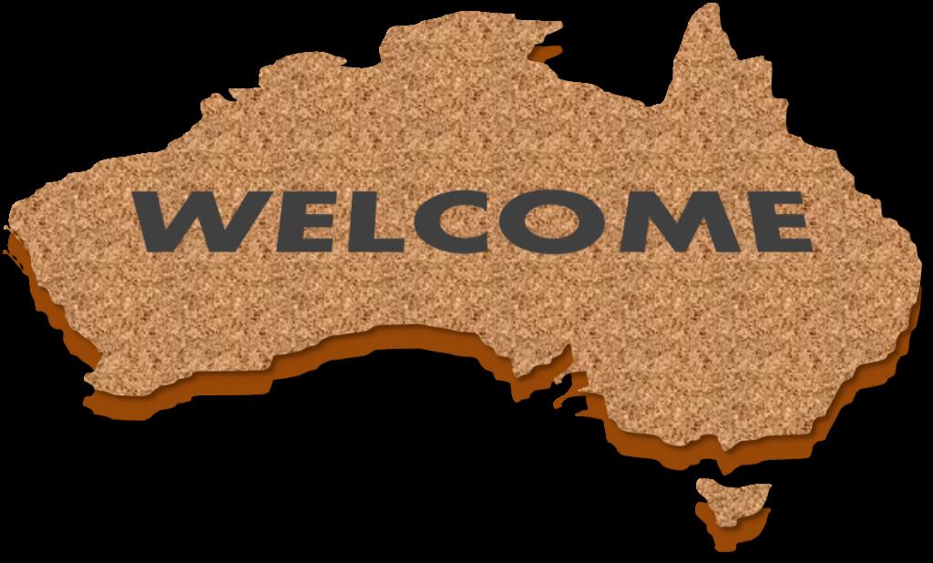 pack arrivée en Australie