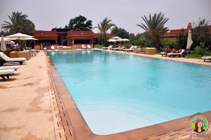 Hôtel dans la palmeraie de Marrakech - Piscine extérieure