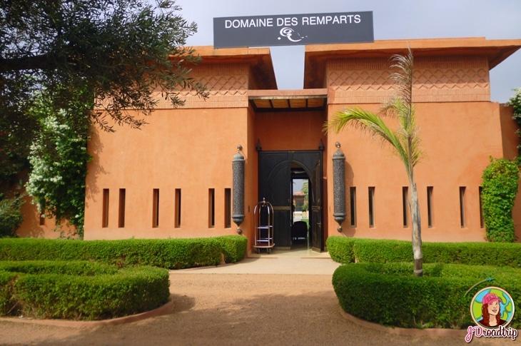 Hôtel dans la palmeraie de Marrakech - Entrée domaine des remparts