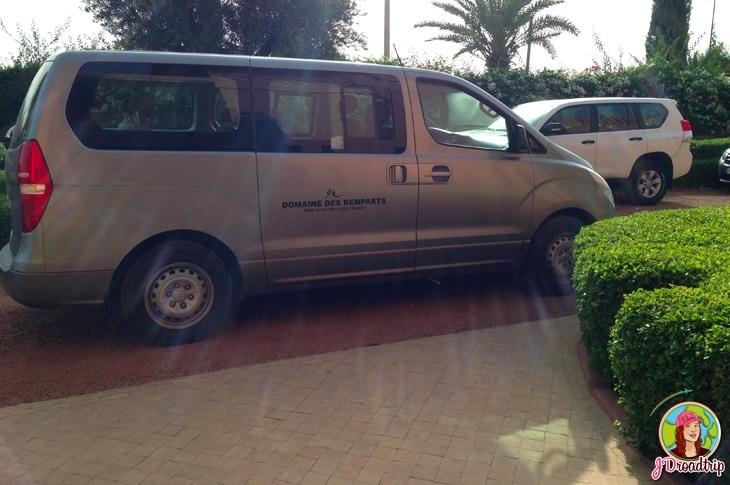 Hôtel dans la palmeraie de Marrakech - Van privé