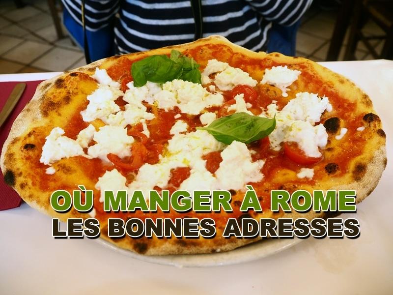 Bonnes adresses où manger à Rome