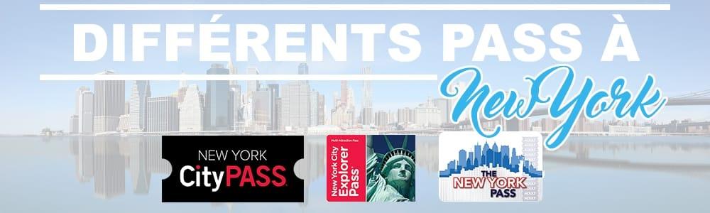 différents pass pour visiter New York