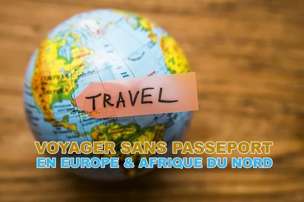 Voyager sans passeport mais avec sa carte d'identité