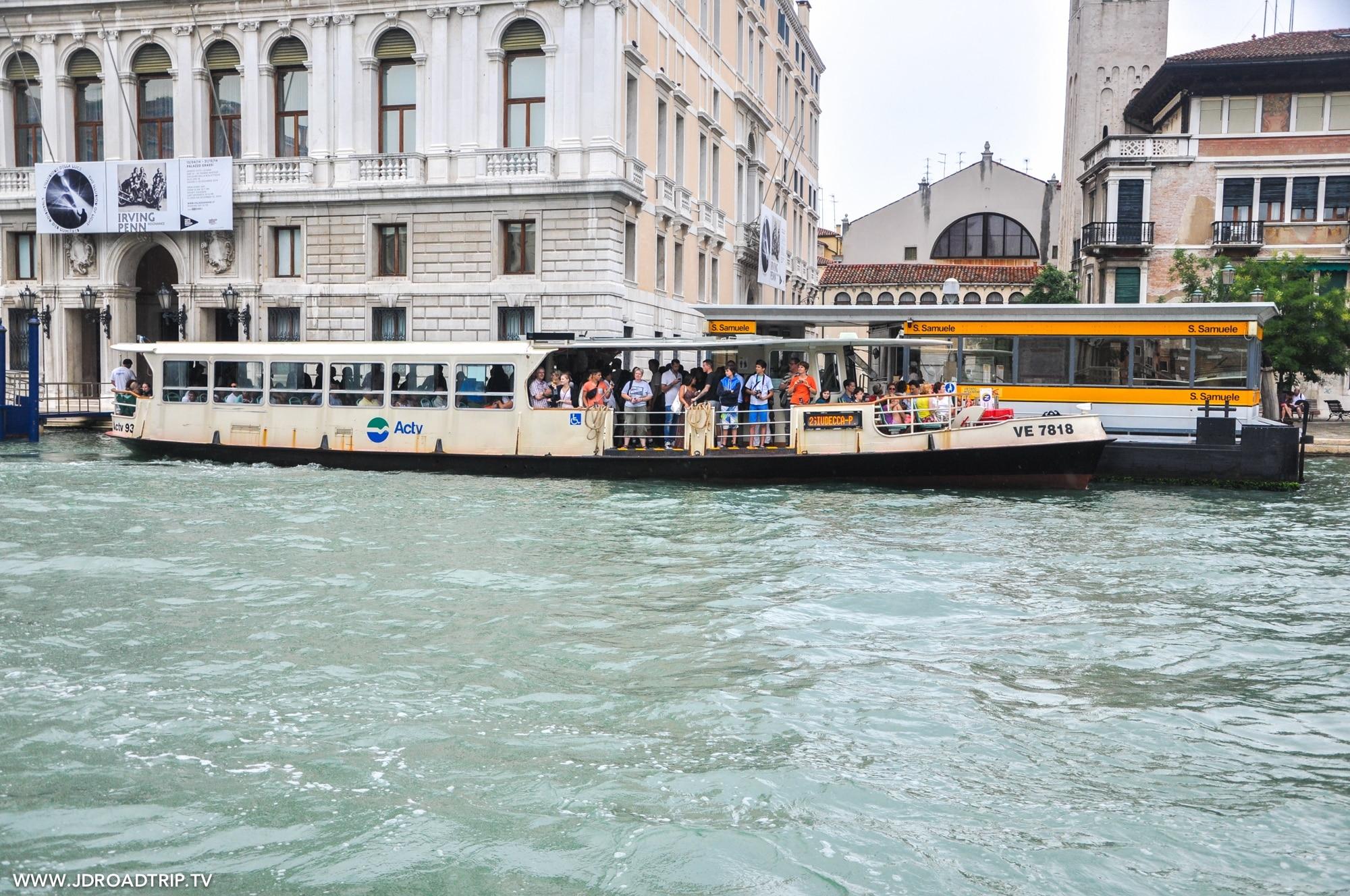 Visiter Venise en 3 jours - Vaporetto