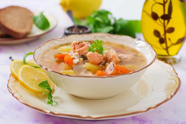 Spécialités culinaires en Laponie - Soupe de saumon