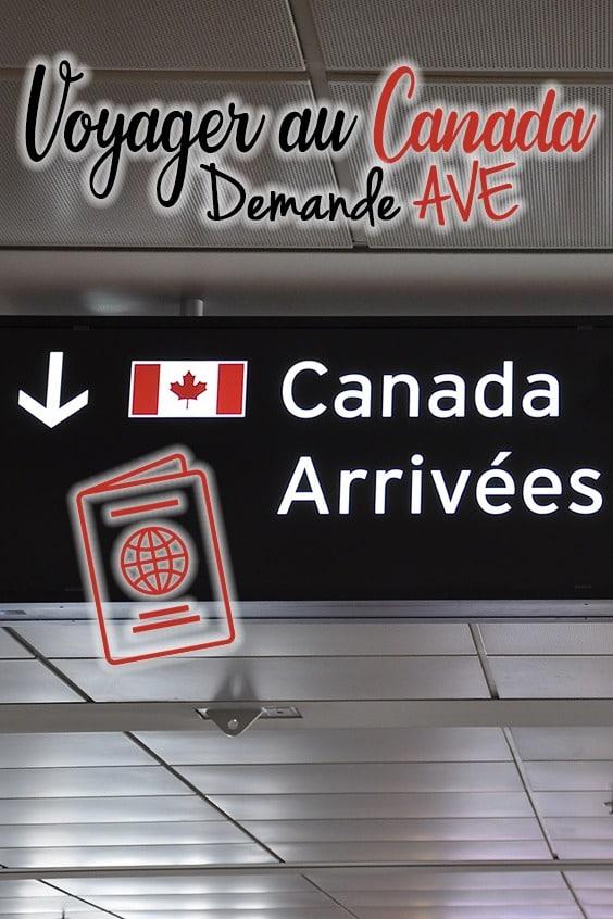 Demande AVE pour votre voyage au Canada