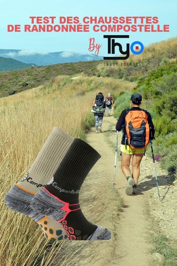 Chaussettes de randonnée Compostelle de Thyo
