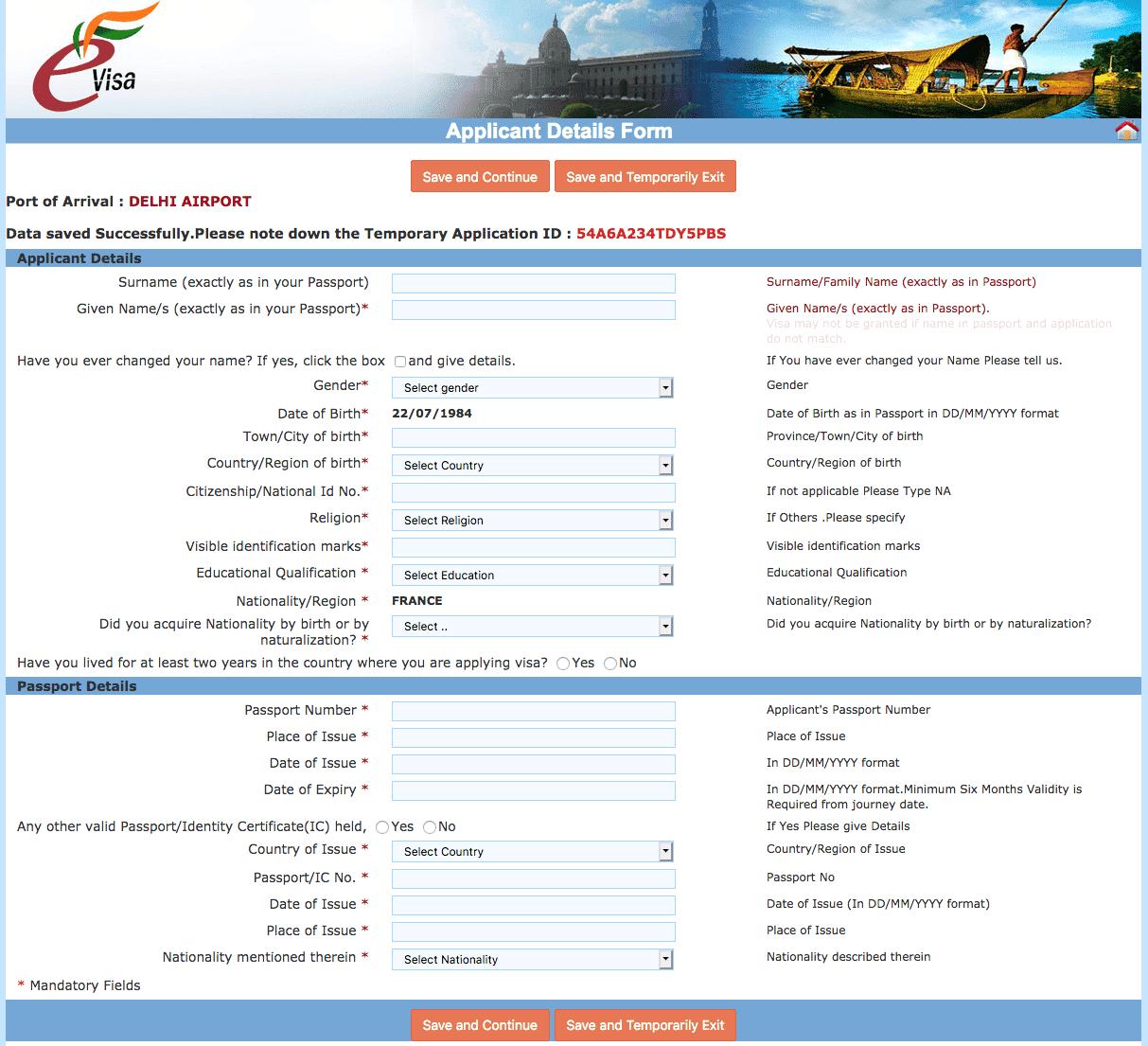 Comment faire son visa en ligne pour l'Inde