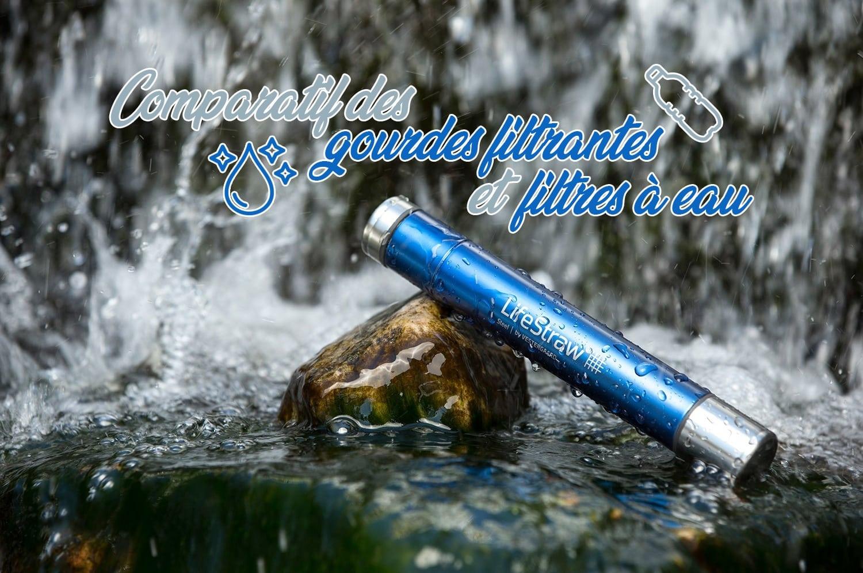 Comparatif des gourdes filtrantes et filtres à eau