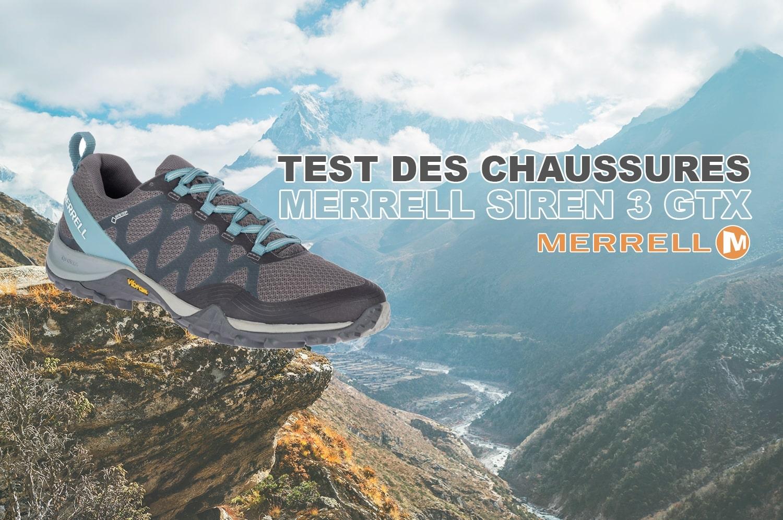 Test des chaussures Merrell Siren 3 GTX spécialement pour femmes
