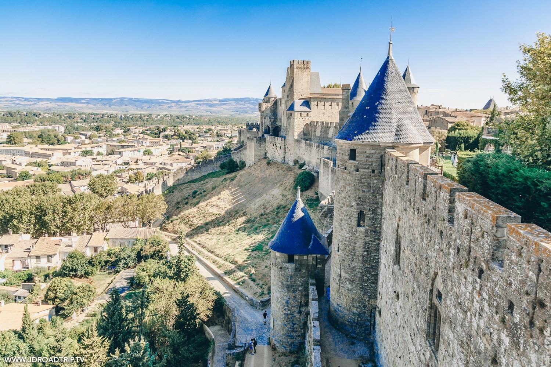 Carcassonne - Canal du Midi à vélo