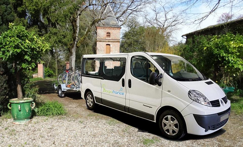 Transport des bagages avec BagaFrance - Canal du Midi à vélo