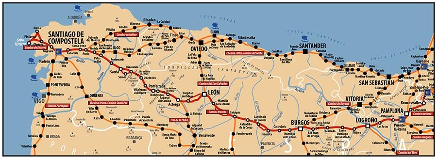 chemin de Compostelle - Camino Francès