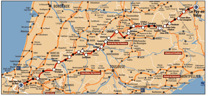 chemin de Compostelle - Voie de Puy
