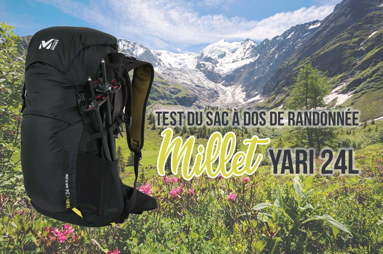 Test du sac à dos Millet de randonnée Yari 24L Airflow